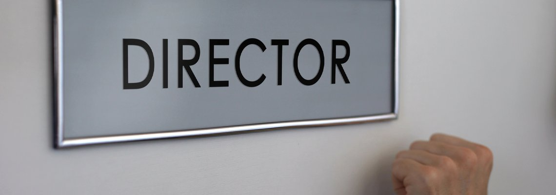 Signage that Says Director