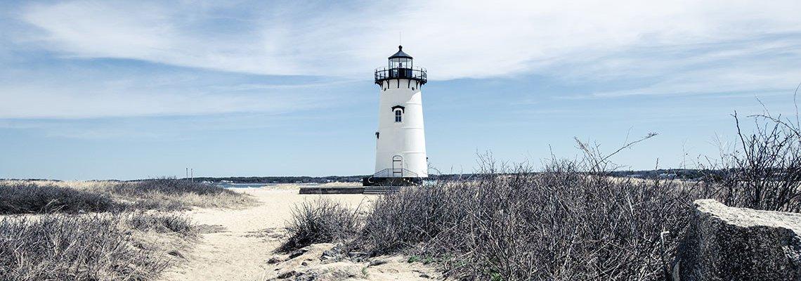 Lighthouse on a beach