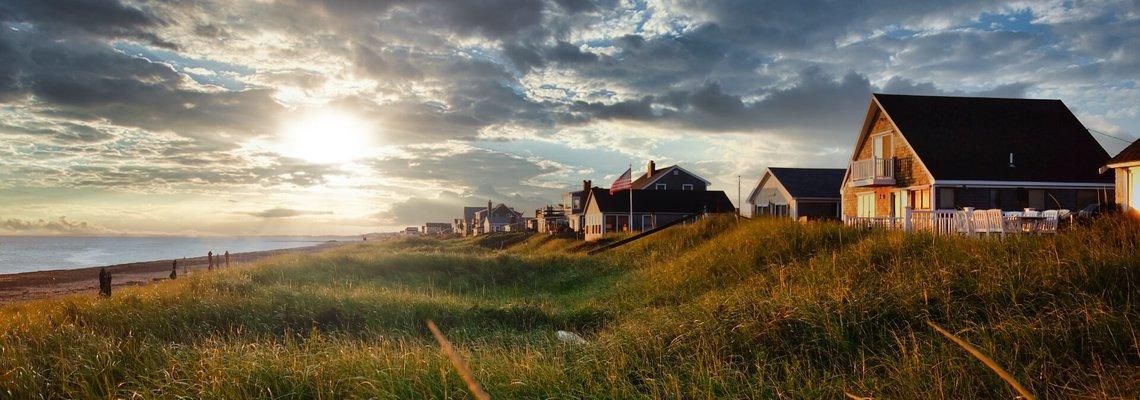 Beach houses in Cape Cod