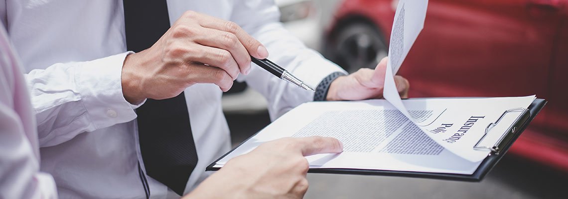 Going over car accident insurance claims