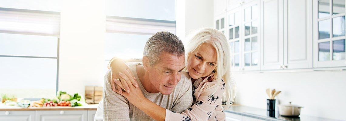 Older couple in their kitchen
