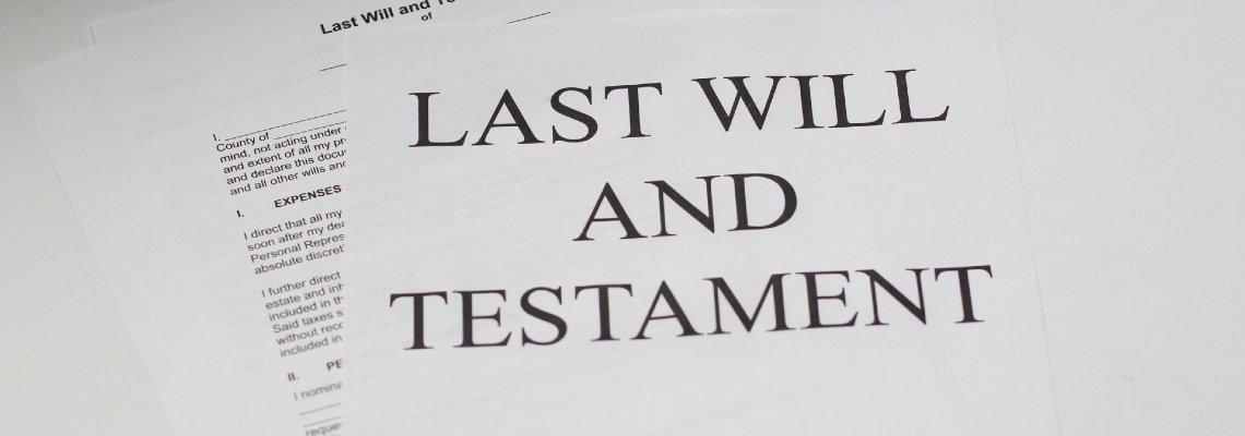 Last will & testament document