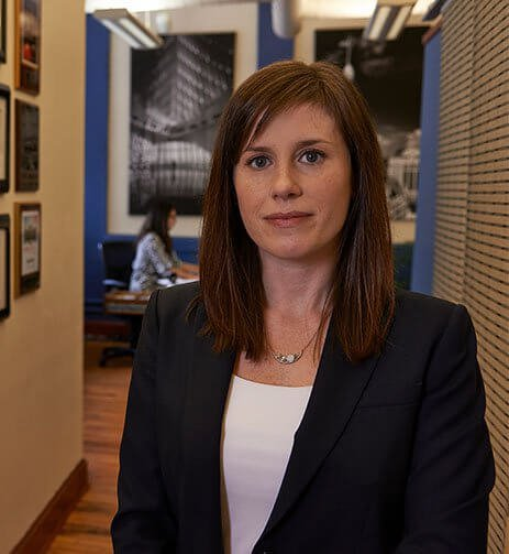 Attorney Leah Thomas in a suit