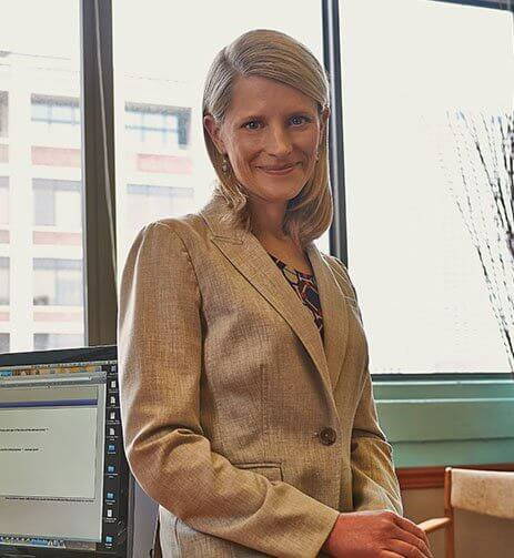 attorney Rebecca Coffee in suit