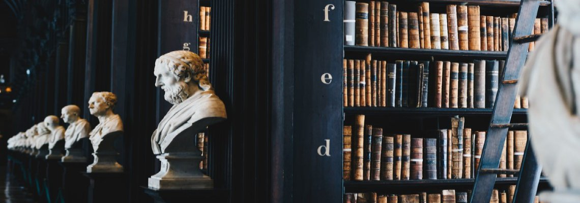 Bookshelves and Busts