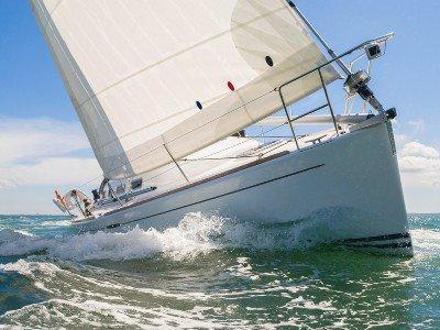 Close up of a sailing boat
