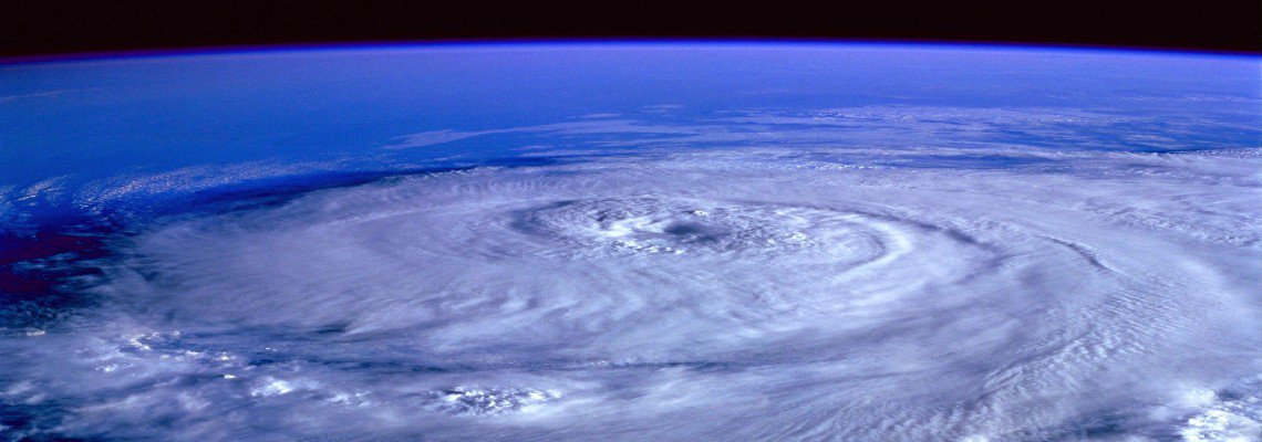Shot of a hurricane from outer space