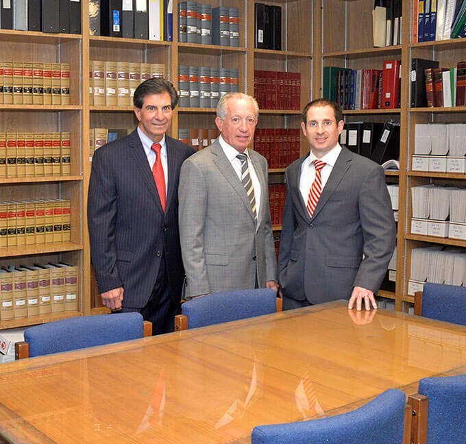 Attorneys Paul Morello, Jr, John R Donovan, and Eamon Donovan
