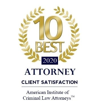 2020 Badge for 10 Best Attorney Client Satisfaction