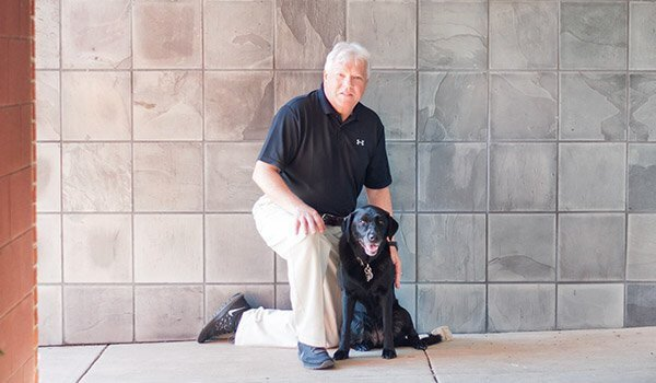 Attorney Thomas Neagle with dog
