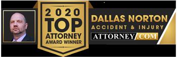2020 Top Attorney Award from Attonrey.com for Dallas Norton
