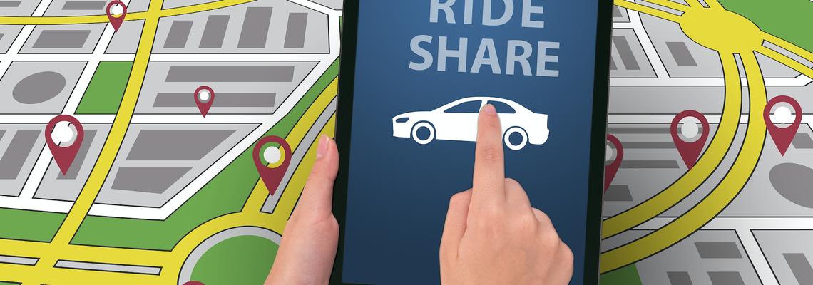 Ride share iPad