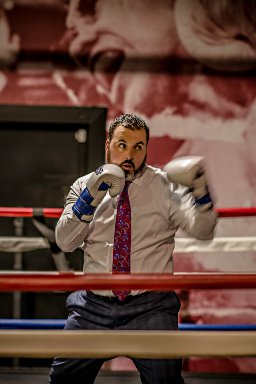 Attorney Jose Orihuela Doing Boxing
