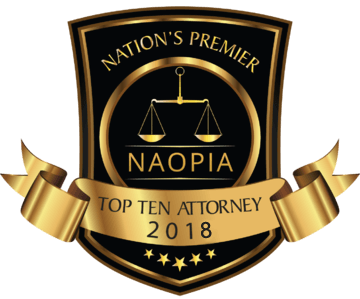 Top 10 Attorney 2018 badge