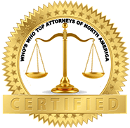 Who's Who Top Attorneys of North America Certified badge