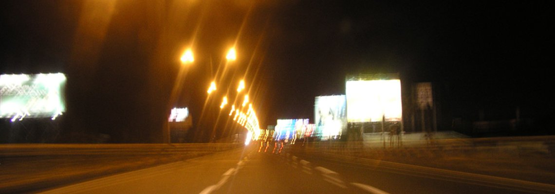 Blurry highway