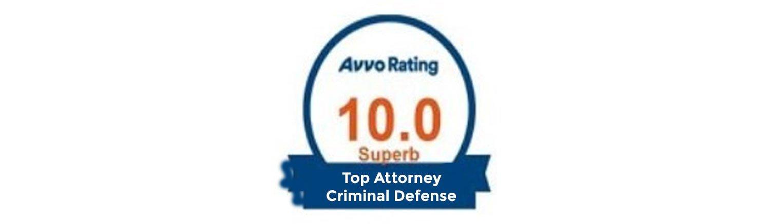 Avvo rating 10.0 badge