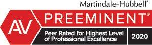 AV Preeminent Peer Rated for Highest Level of Professional Excellence
