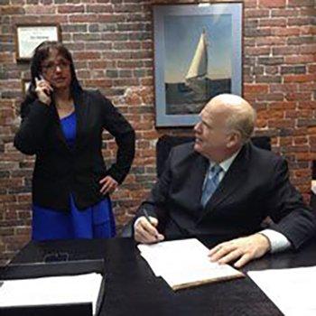 Attorney Paul Sweeney and Susanne Paullin