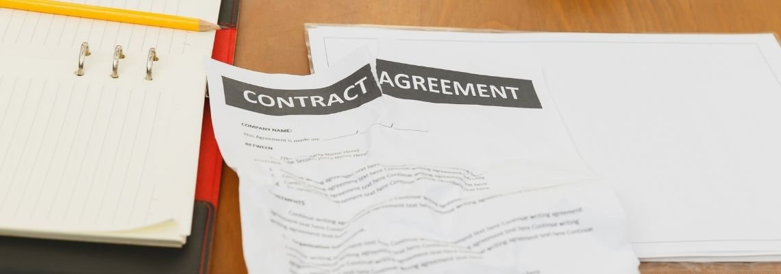 Ripped up contract agreement