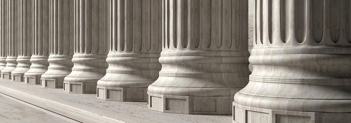 Stone marble columns