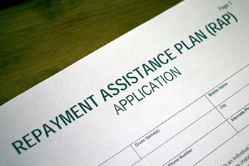 repayment assistance plan application