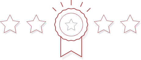 Ribbon with 2 stars on either side
