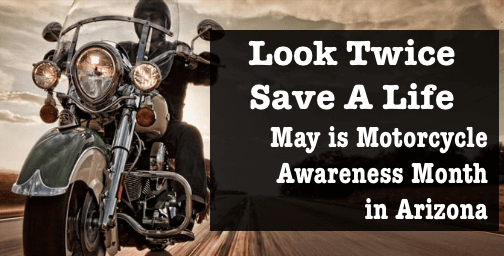 Sign depicting motorcycle awareness