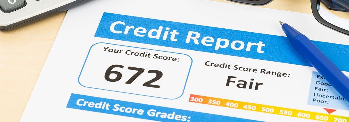 Credit score of 672 document