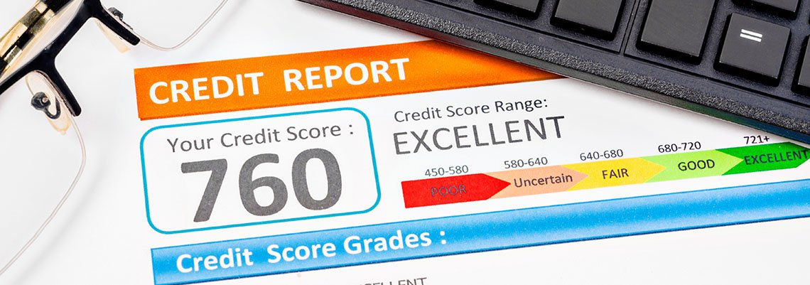 Credit Report with a 760 score