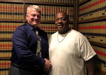 Attorney Richard Davis with Client