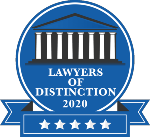 Lawyers of Distinction badge 2020
