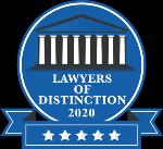 Lawyers of Distinction badge 2020