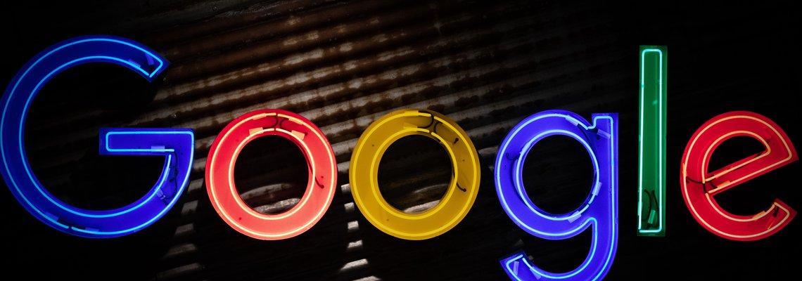 neon Google sign