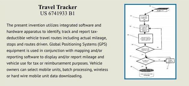 Travel tracker patent