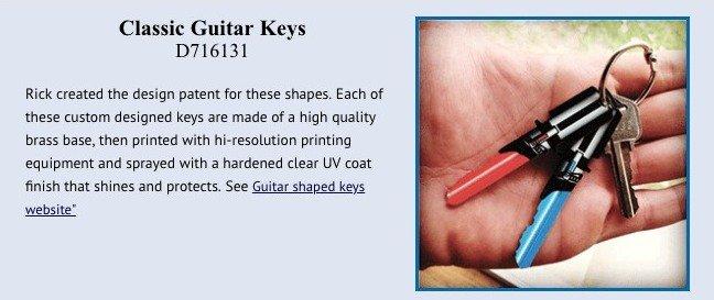 Classic guitar keys patent