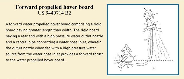 Forward proopelled hover board patent
