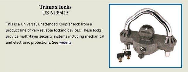 Trimarx locks patent