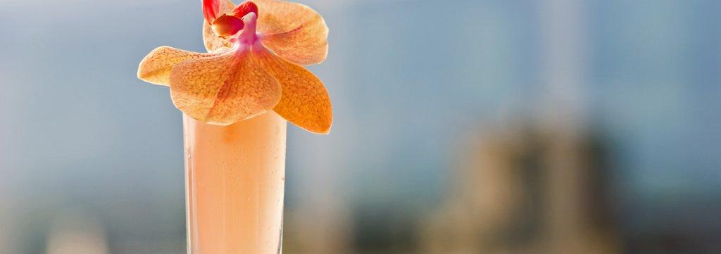 Summertime cocktail outside