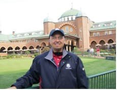 Attorney Scott Andresen volunteering at the 2012 Ryder Cup at Medinah Country Club.