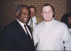 Attorney (then, a law student) Scott Andresen with Unites States Supreme Court Justice Clarence Thomas.