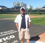 Attorney and die-hard cubs fan Scott Andresen at the friendly confines.