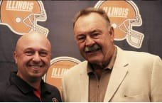 Scott Andresen with Illini and Chicago Bears legend Dick Butkus