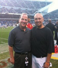 Sports law attorney Scott Andresen spending time with a great friend and colleague from the Oakland Raiders front office.