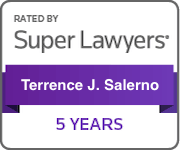 Super Lawyers rated 5 years for Terrence J. Salerno