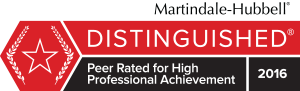 Peer rated for high professional achievement badge