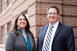 Attorneys Lance Sandage and Sarah Hess