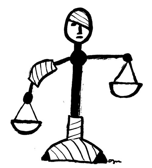 Personified Scales of Justice