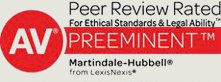 Peer Review Rated for Ethical Standards & Legal Ability