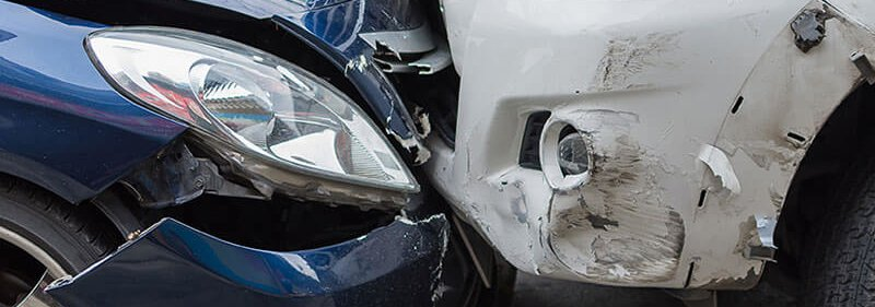 Car accident front end damage